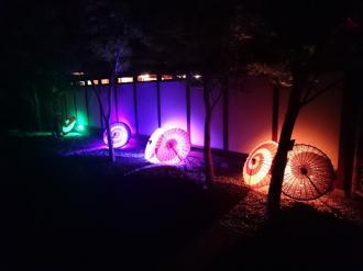 小倉城庭園秋のライトアップ 春花秋月 十六夜庭園~夜間特別開園~